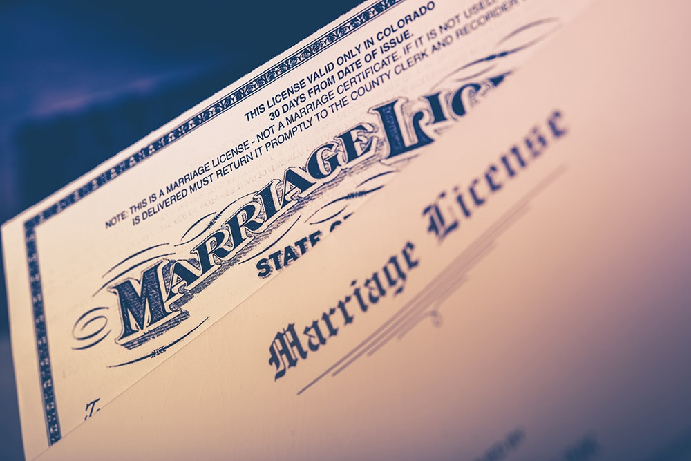 How To Get A Marriage License Vintage Gardens Wedding Chapel And